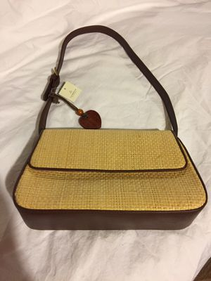 Straw and Leather Purse for Sale in Centreville, VA