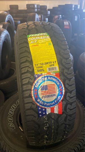 LT 31*10.5R15 FEDERAL COURAGIA for Sale in Sacramento, CA