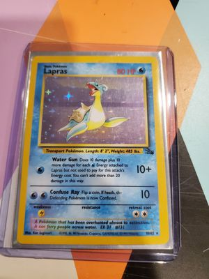 Pokemon card Lapras fossil holo mint condition for Sale in The Bronx, NY
