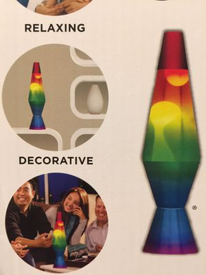 New rainbow lava lamp 14.5 inches with bulb. for Sale in Orland Park, IL