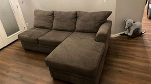 Grey couch with chaise lounge for Sale in Tempe, AZ