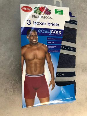 Brand new fruit of the loom boxer briefs blue 3 pack size small for Sale in Davie, FL