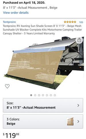 RV trailer canopy shade (new) for Sale in Costa Mesa, CA