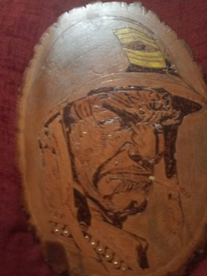 Wood burned soldier art for Sale in Akron, OH