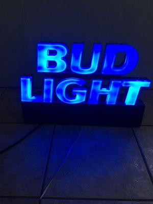 Bud light neon sign Bud light sign Bud light T-shirt bud light hat LED sign but light LED sign raiders Chargers Cowboys Dodgers angels for Sale in La Habra Heights, CA