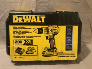 Brand new never used Dewalt Blue tooth XR 20V brushless hammer drill tool set. Retails for $239. for Sale in Vacaville, CA