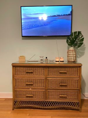 Chest in Ratan of 6 Drawers, Armchair, Nightstand for Sale in Miami, FL