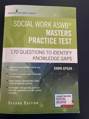ASWB Masters practice test book. for Sale in Euless, TX
