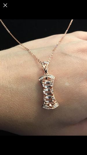 Morganite necklace - rose gold over sterling silver for Sale in West Richland, WA