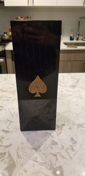 EMPTY BOTTLE OF ACE OF SPADE WITH CASE $40 LOCAL PICK UP $50 to Deliver for Sale in Forest Heights, MD