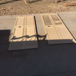 Tan Louvered Doors for Sale in Jenks, OK