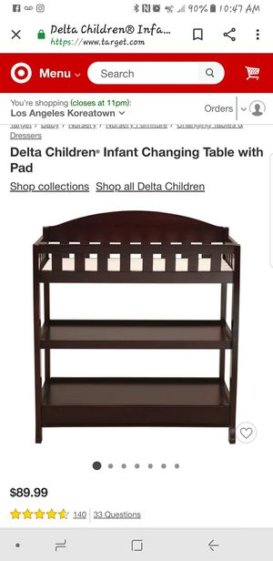 Delta changing table for Sale in Los Angeles, CA