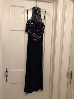Bee Darlin Navy Blue 2 piece Formal Sequins Dress size 1/2 for Sale in Cleveland, OH