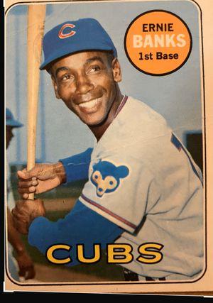 Ernie banks mr.cubs baseball card 1969 for Sale in Anaheim, CA