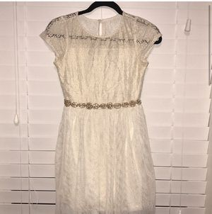 SEQUIN HEARTS girls flower girl/bridal dress gold & white for Sale in Fort Belvoir, VA