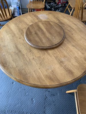 """54"""" Kitchen Table w/ Lazy Susan - 4 chairs for Sale in Chula Vista, CA"""