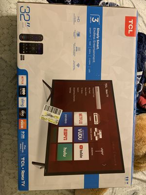 """New 32"""" TCL Roku tv for Sale in Dallas, TX"""