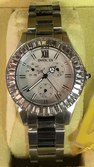 Invicta Women's Angel Crystal 38mm White Dial Stainless Steel Watch for Sale in Buena Park, CA