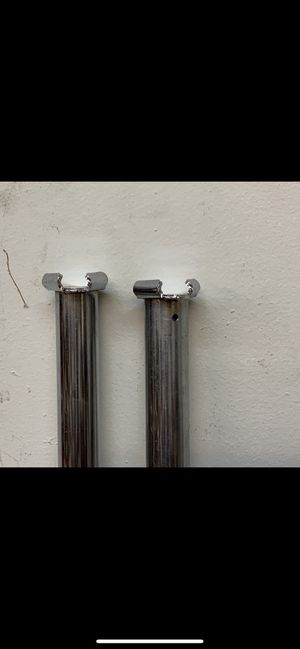 5.5 ft. Chrome Bar Wall Hanging Clothing rods for Sale in Dallas, GA
