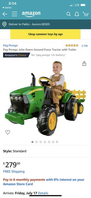 Toy tractor with trailer John deer for Sale in Aurora, IL