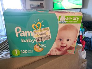 Pampers Baby Dry Size 1 Diapers for Sale in San Marcos, CA
