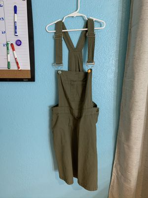 Olive green overall dress for Sale in San Antonio, TX