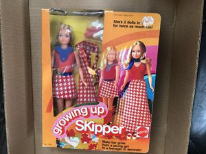 Hard to find! Vintage Growing Up Barbie Skipper 2 dolls in one grows from young girl to a teenager 1974 for Sale in Homer Glen, IL