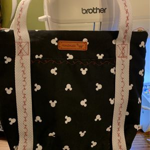 Handmade Mickey Mouse tote shoulder bag with two outside pockets for Sale in Jonesboro, GA