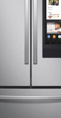 Brand New Samsung - 28 cu. ft. 3-Door French Door Refrigerator with Family Hub™ - Fingerprint Resistant Stainless Steel # RF28T5F01SR/AA for Sale in Seattle, WA