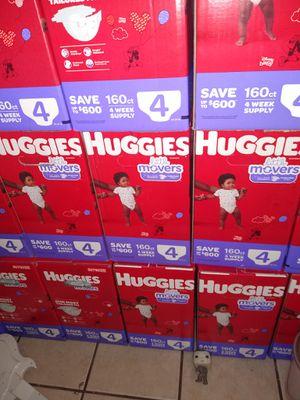 HUGGIES SIZE 4 $35 CADA 1 CAJA PRECIO FIRME RRECOJER EN SANTA ANA CA NO ADOMISILIO 👁️👀👁️👀 for Sale in Santa Ana, CA