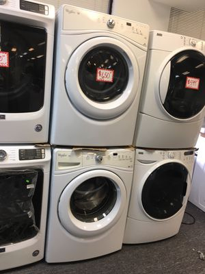 Whirlpool front load washer and dryer electric set perfectly working 4 months warranty for Sale in Laurel, MD