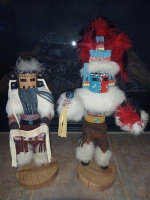 2 vintage signed Navajo Hopi Kachinas for Sale in Puyallup, WA