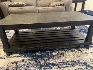 Espresso Brown Wood Coffee Table and Side Tables for Sale in Long Beach, CA