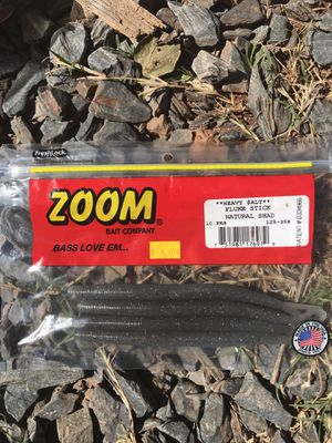 Zoom heavy salt fluke stick natural shad 4 ct for Sale in Greensboro, NC