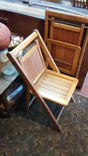 Two antique folding chairs for Sale in Saltsburg, PA