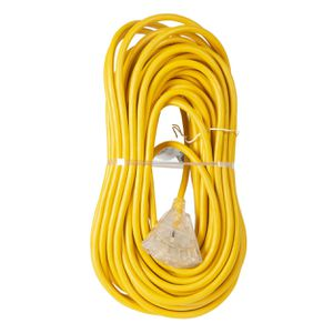 Extension Cord 100ft SJTW Yellow 12/3 Lighted End Triple Tap (OC1001233T) for Sale in Concord, NC