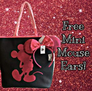 Mickey Mouse pink sequins tote bag for Sale in Ontario, CA