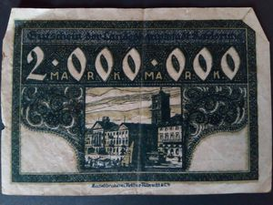 Antique German Deutsche Mark. 2,000,000 Marks for Sale in Moscow, ME