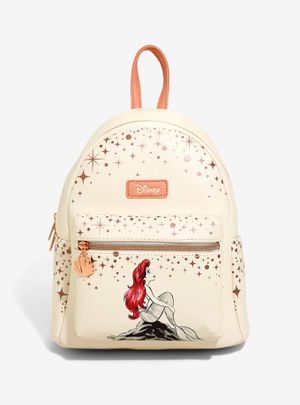 DISNEY LOUNGEFLY THE LITTLE MERMAID ARIEL ROSE GOLD MINI BACKPACK for Sale in Montebello, CA