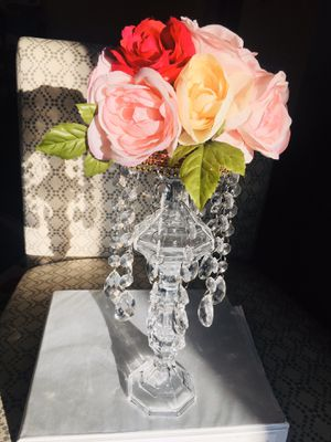Flower crystal chandeliers table center pieces for Sale in Chelmsford, MA