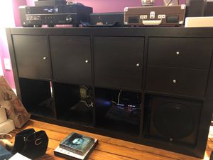 IKEA Kallax with cabinet doors and drawers. Cube storage for Sale in Brooklyn, NY