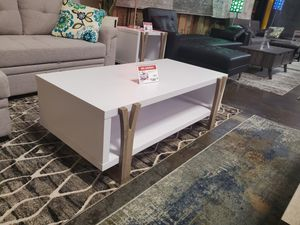 Coffee/Center Table, White and Dark Taupe for Sale in Fountain Valley, CA