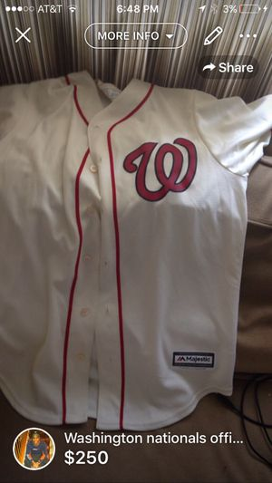 Nationals baseball jersey for Sale in Hyattsville, MD