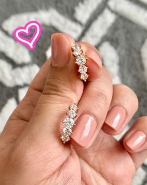 14K Rose Gold Filled 5 Stone Earrings for Sale in San Ramon, CA