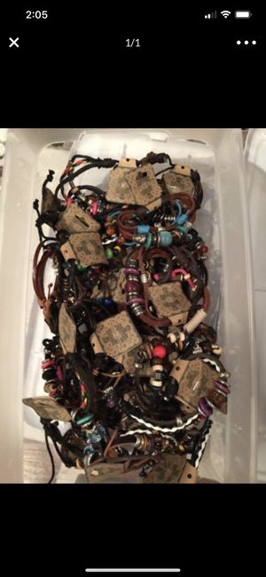 Leather Bracelets Brand New, $1 each lots of different styles for Sale in Aurora, CO