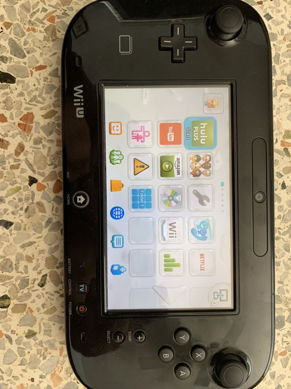 Nintendo Wii U 32GB Black Console with 6 games and accessories - $135
