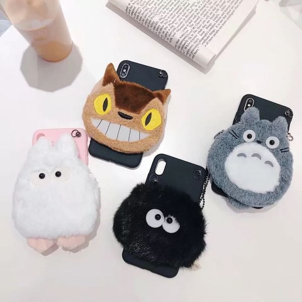 ORYKSZ For iphone 11 Pro Max Case Luxury Cartoon Totoro Silicone Soft Cases For iphone X XS XR XS MAX