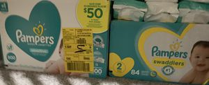 Pampers wipes & size 2 for Sale in San Diego, CA