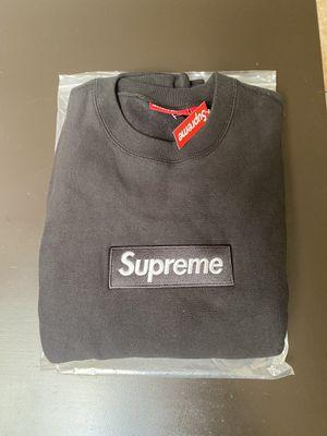 NEW Supreme Box Logo Crewneck Black Size: M for Sale in Orlando, FL