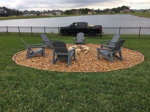 Furniture, Rock patio, Firepit all in one Package for Sale in Leesburg, FL
